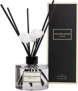 CULTURE & NATURE Reed Diffuser 6.7 oz (200ml) Summer Peach Scented Reed Diffuser Set