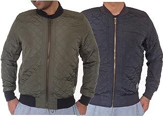 Mens Dissident Rodney Bomber Jacket Quilted Stitching Bomber Jacket