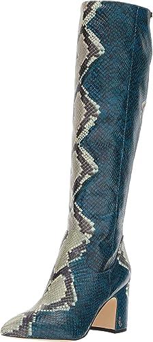 Sam Edelman damen& 039;s Hai Knee High Stiefel, Peacock Blau Multi Snake Print, 6.5 M US