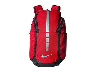 Nike Hoops Elite Pro Backpack (University Red/Black/Metallic Cool Grey) Backpack Bags