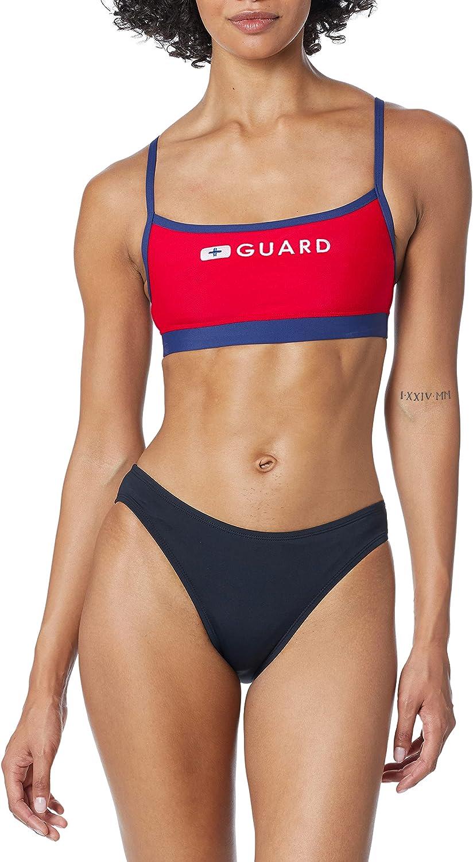 Speedo Women's Guard Swimsuit Sport Bra Top Endurance Thin Strap