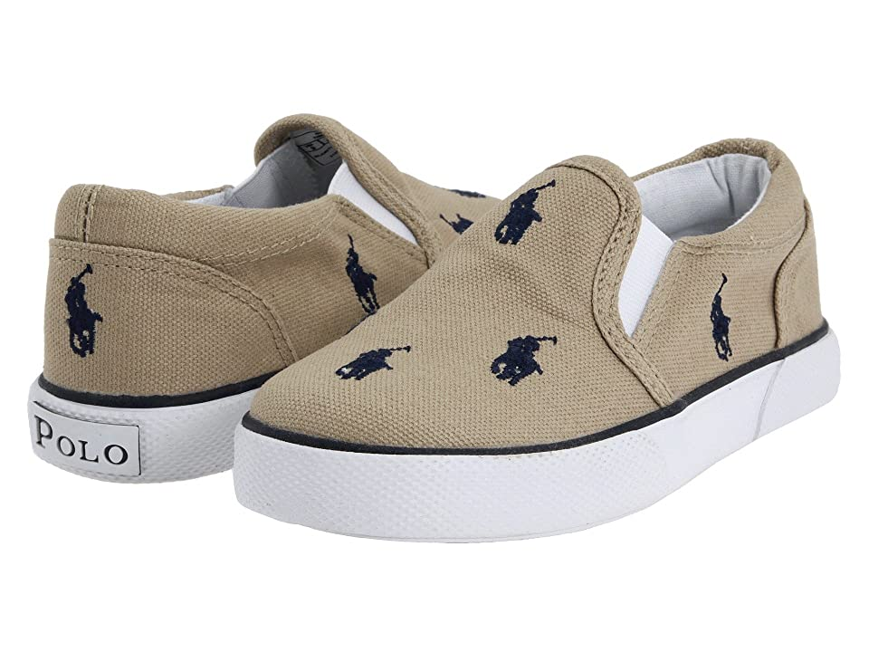 Polo Ralph Lauren Kids Bal Harbour Repeat SS11 (Infant/Toddler) (Khaki/Navy Canvas) Boys Shoes