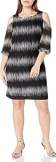 Sandra Darren Women's Plus Size 1 Pc Cold Shoulder Knit Dress