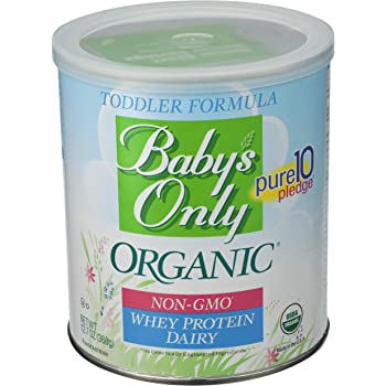 Baby's Only Whey Protein Dairy Toddler Formula, 12.7 Oz (Pack of 1) | Non GMO | USDA Organic | Clean Label Project Verified