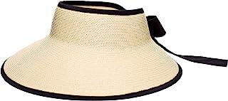 Pineapple&Star Vienna Visor Women's Summer Sun Straw Packable UPF 50+ Beach Hat