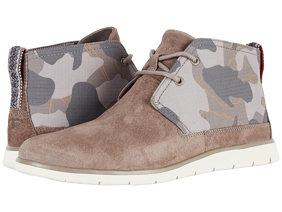 Feel free to file the Freamon Camo from UGG under fresh street style with its totally urban vibe. Rich suede and camo-printed ripstop nylon uppers with a round toe. Mid-cut silhouette with rear pull-tab. Adjustable lace-up closure for a secure fit. Soft and breathable fabric linings. Features a leather-lined enerG Comfort System insole designed with built-in arch support and an additional layer of moisture-wicking  open-cell PU foam for added comfort and support. Treadlite by UGG outsole provides increased traction  durability  cushioning and flexibility. Imported. Measurements: Weight: 9 oz Product measurements were taken using size 9  width D - Medium. Please note that measurements may vary by size. Weight of footwear is based on a single item  not a pair.