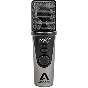 Apogee MiC Plus - Studio Quality USB Microphone with Cardioid Condenser Mic Capsule, Built In Mic Pre-Amp & Zero-Latency Headphone Output