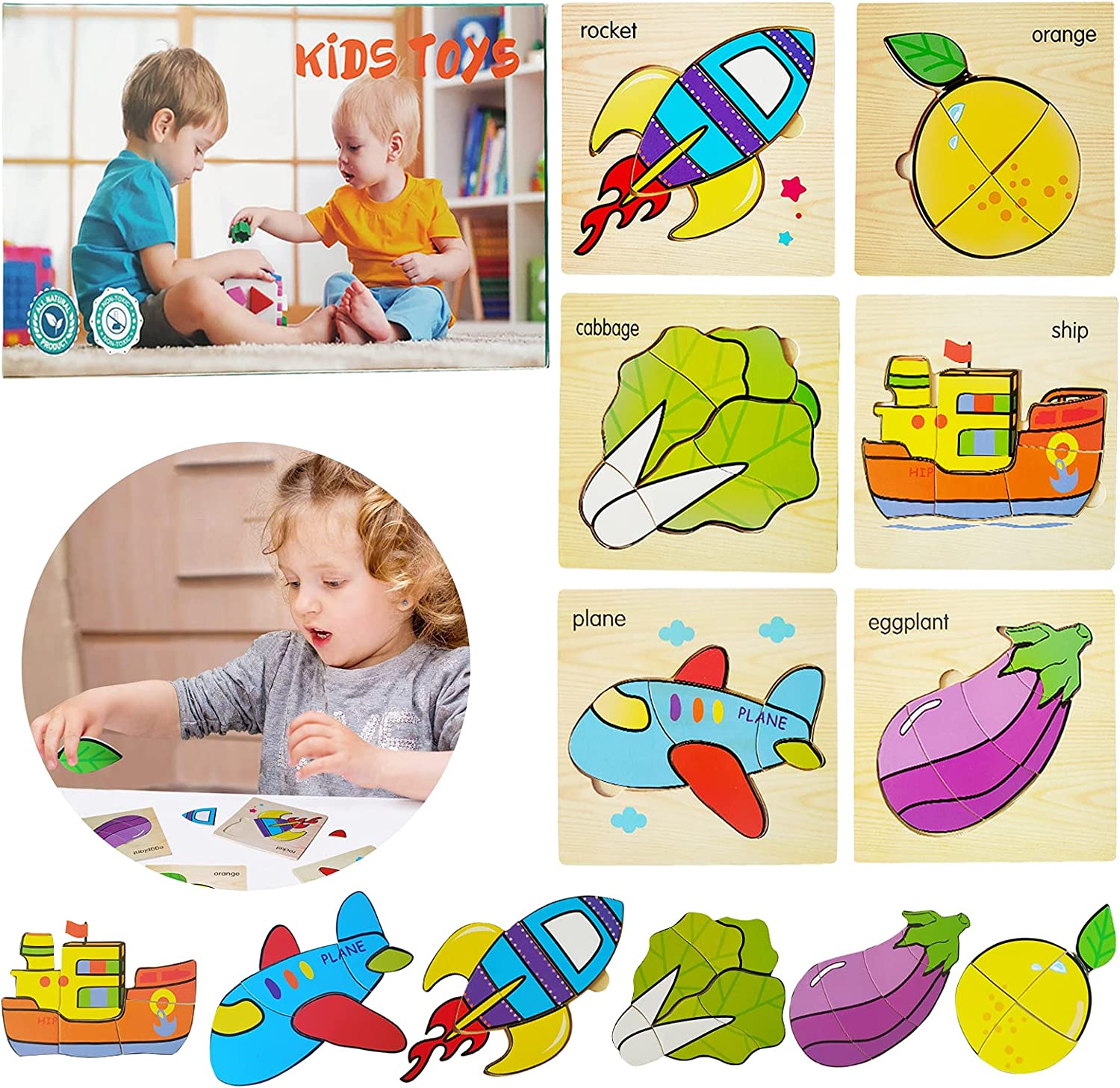 OMIO Wooden Puzzles for Jigsaw 1 year warranty Toddlers Cheap SALE Start - Tod