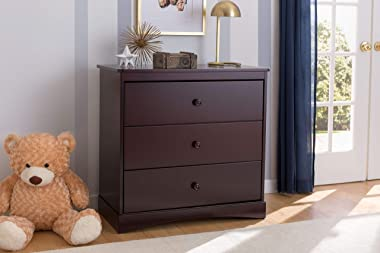Delta Children Sutton 3 Drawer Dresser with Changing Top, Espresso Java , 17.5x34.75x37 Inch (Pack of 1)