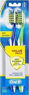 Oral-B CrossAction Pro-Health Anti-Bacterial Manual Toothbrush, Medium, Pack of 2