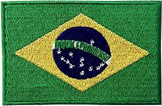 Brazil Flag Embroidered Brazilian Brasil National Emblem Iron On Sew On Patch