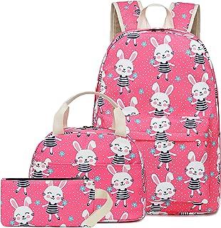 CAMTOP School Backpack Unicorn Girls Teens School Bags Cute Kids Backpacks (Y0034 Cute Rabbit)