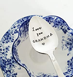 Love You Grandma - Hand Stamped Spoon - Gift For Grandmother - Engraved Spoon - Mother's Day