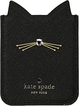 Kate Spade New York - Embellished Cat Sticker Pocket
