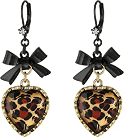 Euro Leopard Heart Black Bow