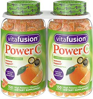 VF Power C Gummy Vitamins for Adults, 2 Pack (150-Count)