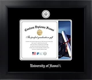 Celebration Frames University of Hawai'i 8 x 10 Matte Black Finish Infinity Diploma Frame