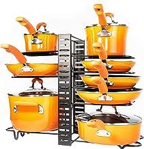 Pots and Pans Organizer – Kitchen Cabinet Organization and Storage – Pot Rack Organizers – 3 DIY Methods – Adjustable Pot ...