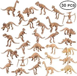 UPINS 30 Pack Skosons Fosil Dinosaur 3.7 اینچ اسکلت دایناسور اسکلت اسباب بازی رقم Dino Bones هدیه آموزشی برای علم بازی Dino Sand Dig Party Decorations Favor
