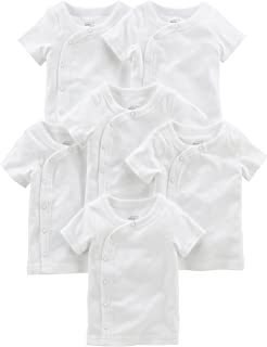 Baby 6-Pack Side-Snap Short-Sleeve Shirt