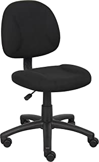 Boss Office Products Perfect Posture Delux Fabric Task Chair without Arms in Black