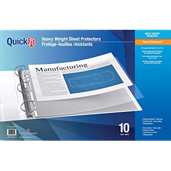 Amazon Com Office Depot Tabloid Size Sheet Protectors 11in X 17in Clear Pack Of 10 697146 Large Sheet Protectors Office Products