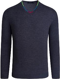 Men's Long Sleeve V-Neck Sweater, Navy