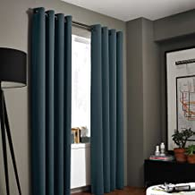 Kenneth Cole Reaction Home Gotham Texture 63 Inch Lined Grommet Window Curtain Panel in Azure Blue