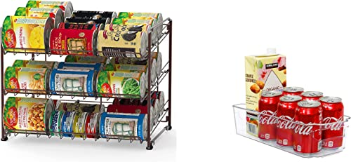 high quality Simple Houseware Stackable Can Rack Organizer + Kitchen online sale outlet online sale Bin Organizer outlet online sale