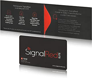 Credit Card Protector - 1 RFID Blocking Card Does All to Block RFID/NFC Signals form Credit Cards and Passports; Fit in Wallet and Purse