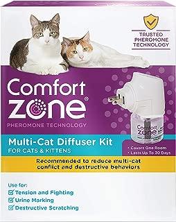Comfort Zone 2X More Pheromones Formula Calming Diffuser Kit for Cat Calming   Multi Cat & Calming Formulas   Single Diffuser Kit, 1 Diffuser, 1 Refill