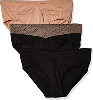 Warner's Women's Blissful Benefits No Muffin Top 3 Pack Hipster Panties