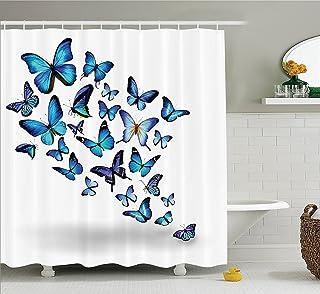 Polyester 90 x 180 cm violetpos rustique Gris Ancre Bois Rideau de douche salle de bain d/écoratifs