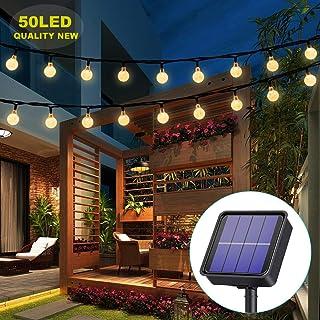 Solar Lights Garden, 50LED 7M/24Ft Solar String Lights Outdoor Waterproof 8 Modes Indoor/Outdoor Fairy Lights Globe for Ga...