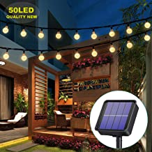 Solar Lights Garden, 50LED 7M/24Ft Solar String Lights Outdoor Waterproof 8 Modes Indoor/Outdoor Fairy Lights Globe for Garden, Patio, Yard, Home, Party, Wedding, Festival Decoration (Warm White)