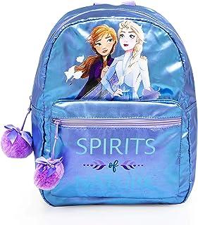 Disney Zainetto Zaino Scuola Bambina Ragazze Frozen 2 Elsa & Anna Pon Pon Rosa 38 x 27 x 11 cm