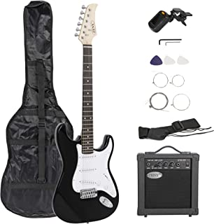 "Best ZENY 39"" Full Size Electric Guitar with Amp, Case and Accessories Pack Beginner Starter Package, Black Review"