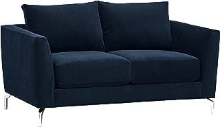 Rivet Emerly Mid-Century Modern Velvet Sectional Loveseat Sofa Couch, 63