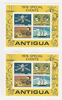Antigua, Postage Stamp, 458a Mint NH Sheets (2 Each), 1976 Space, Cricket