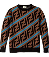 Fendi Kids - All Over Logo Print Sweater (Big Kids)