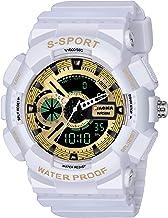 Piaoma Analog-Digital Gold Dial Men's Watch