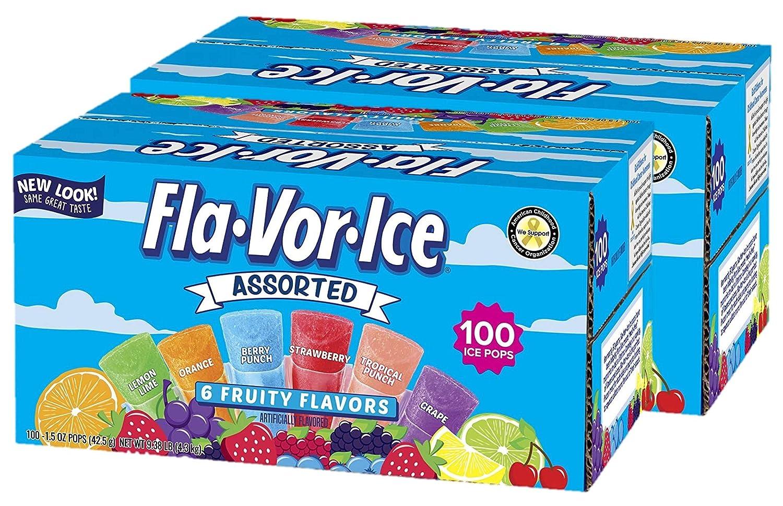 Fla-Vor-Ice Freezer Pops Max 86% OFF Miami Mall Gluten Fat Free Fruity Fla Ice