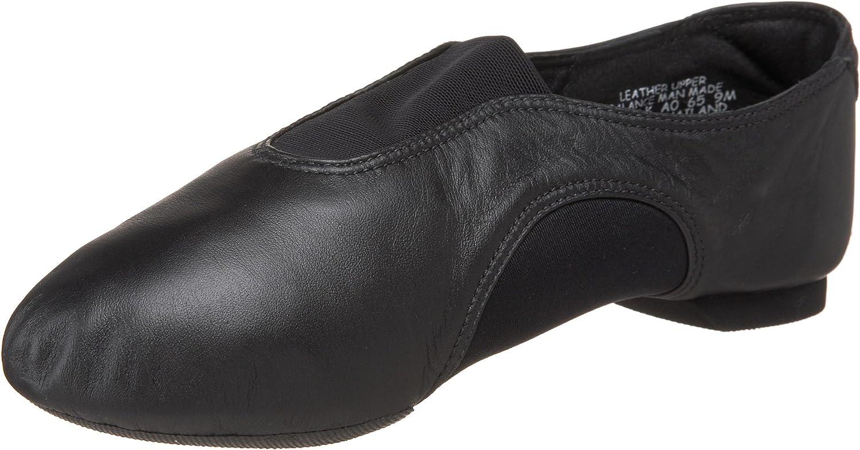 Capezio womens V Jazz Low dance shoes, Black, 6.5 US