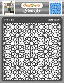 thecraftshop CrafTreat Stencil Arabic Pattern Reusable Painting Template for Art and Craft, Mixed Media, Wall, Home Decor,...