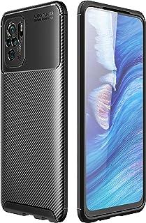 شاومي ريدمي نوت 10 (Xiaomi Redmi Note 10) جراب خلفي اتوفوكس سيليكون مقاوم للصدمات من الكربون فايبر - اسود