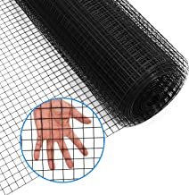 48 x 100 48 x 100 1//2inch Hardware Cloth 16 Gauge Black Vinyl Coated Welded Fence Mesh for Home and Garden Fence and Home Improvement Project