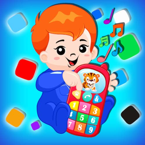 Musical Baby Phone Game for Kids - Baby Phone Game for Toddler - 1 to 9 Number Learning - Animal Sounds and Musical Notes