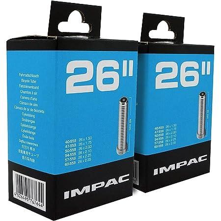 "Impac 2 Pack Cycle Tubes 26"" Schrader Valve (Car Type Valve) - 26 x 1.50-2.35 (40-559/60-559)"