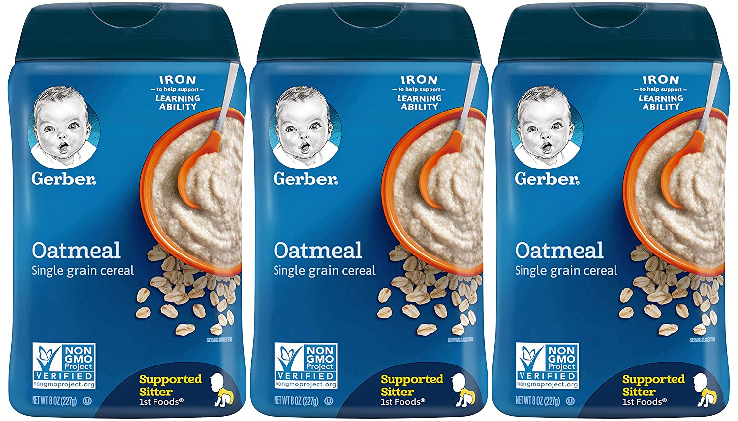 Gerber Baby Cereal Max 54% OFF 1st Oatmeal 8 Foods OZ Quality inspection