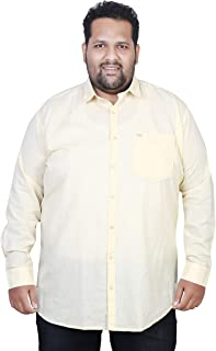 ASABA Full Sleeve Solid Shirts for Big and Broad Men in Many Fabric Options Such as Linen, Cotton, Denim, Satin, Chambrey, milange, fillafil etc. Plus Sizes AVAILAIBLE …